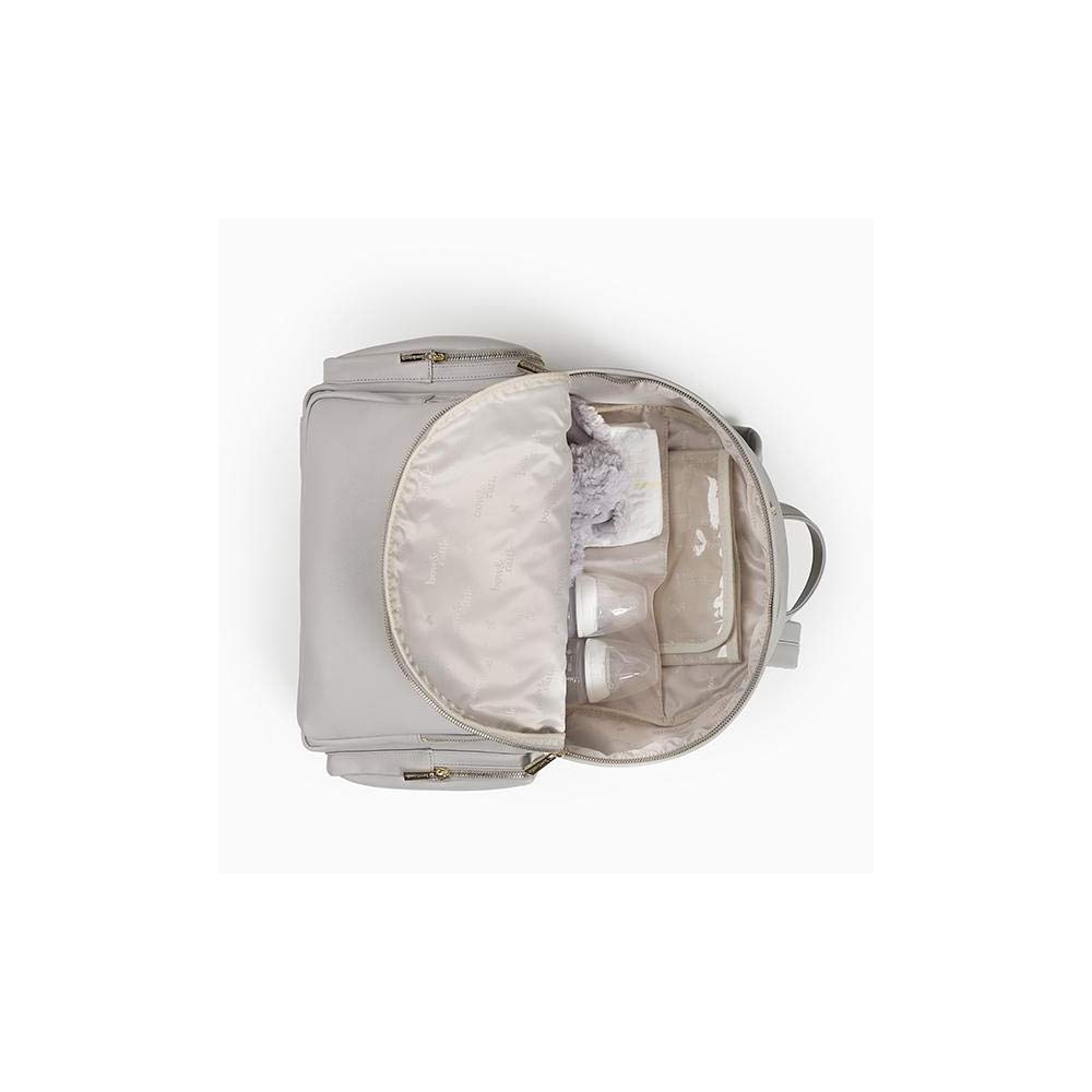 4db39fc2bd840 Amazon.com : Bow & Rattle Luxury Jenny Baby Diaper Nappy Bag Backpack in  Grey - Faux Leather, Super Stylish Stylish and Fashionable Faux Leather Bag  and ...