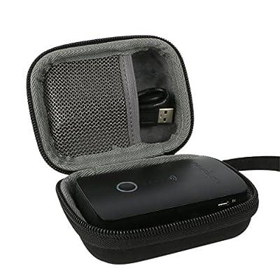 co2CREA Carrying Travel Storage Case Bag for RAVPower WD-03 FileHub/Wireless Travel Router/SD Card USB Reader/Portable Hard Drive Companion/DLNA NAS Sharing Media Streamer/6000mAh Powerbank