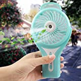 YouVogue Portable Fan, handheld USB Fan with Water Spray Personal Cooling Rechargeable for Office, Outdoor Camping Beach etc Travel Accessories (Blue)