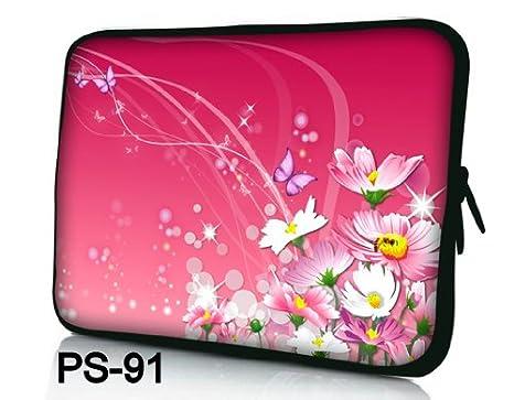 """NUEVO Fashion rosa con diseño de flores de 15 """"15.4"""" 15.6 pulgadas portátil"""