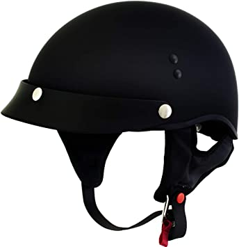 Outlaw T69-70 DOT Solid Flat Black Half Helmet