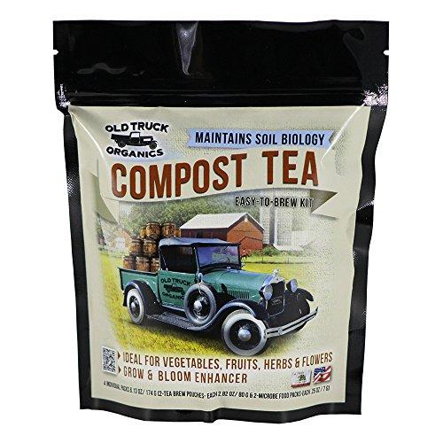 Compost Tea Easy-To-Brew Kit, 2 Tea Brew Pouches & 2 Microbe Food (Vegetable Garden Compost)