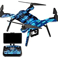 MightySkins Protective Vinyl Skin Decal for 3DR Solo Drone Quadcopter wrap cover sticker skins Space Blocks