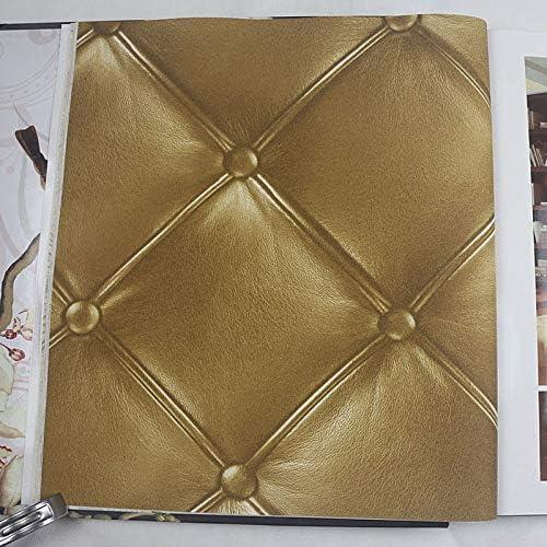 Style europ/éen 3D st/ér/éoscopiques souple PackLeather textur/é Papier peint luxe moderne Chambre mur rouleau de papier pour le salon