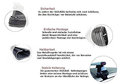 G3 Stahl Dachtr/äger zur Montage an vorgegebene Befestigungspunkte des Fahrzeugs hochwertig