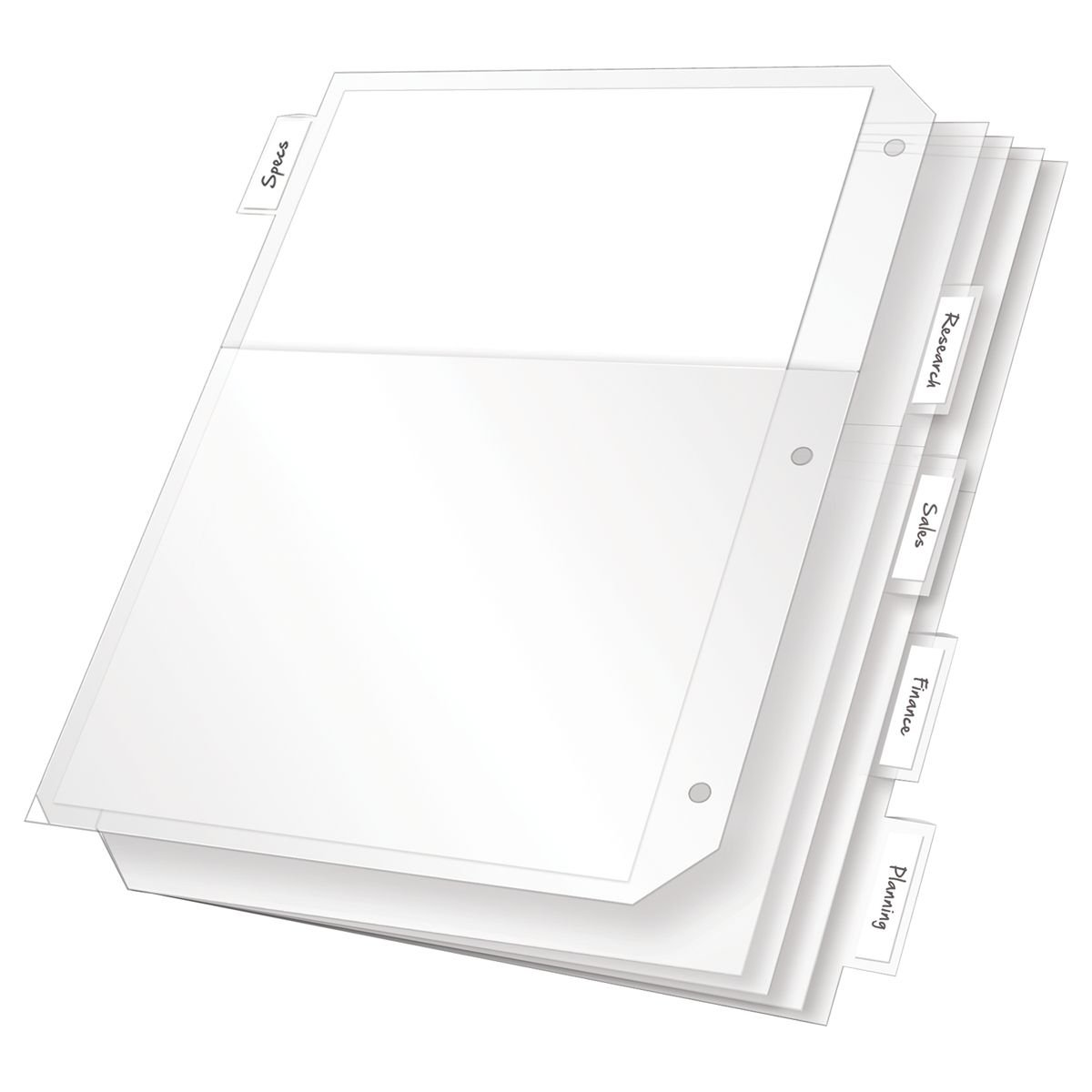 TOPS Cardinal Poly Ring Binder Pockets, 5 Tab, Double Pocket, White, (84010CB) TOPS Business Forms Inc.