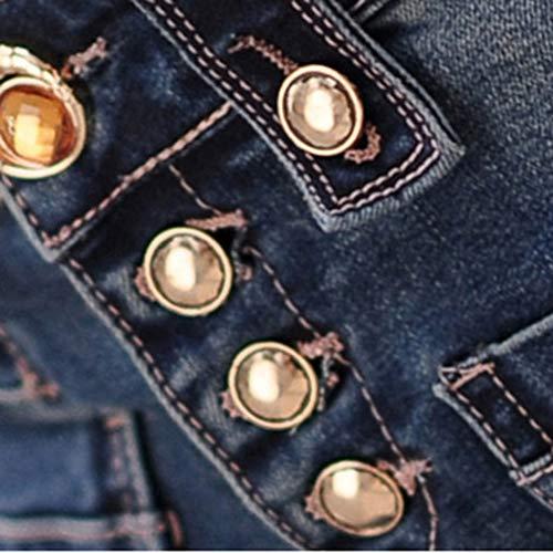 Limamai Alta Pantalones Flares Grande Boot Talla Jeans Cintura Cut Azul Bota Marino Mujer Corte Vaqueros PPdBwr