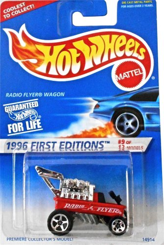 Hot Wheels 1996 First Editions Red Radio Flyer Wagon 1:64 Scale Die Cast Collector Car #374 (Collector Diecast Scale)