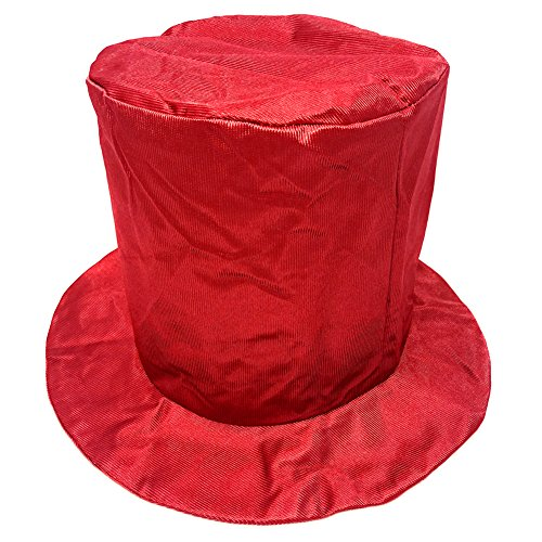 Discount Top Hats (Adult Shiny Red Top Hat ~ Fun New Year's, Costume, Birthday, Party Accessory)