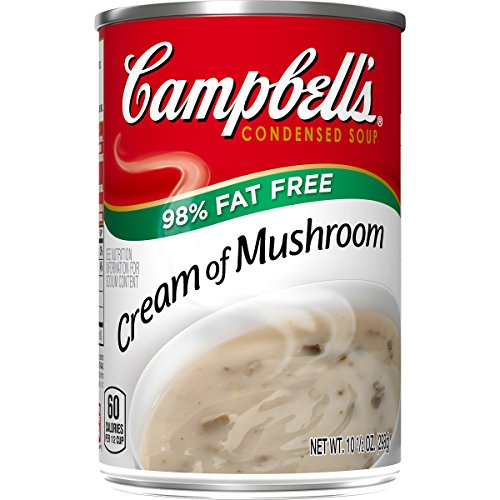 Campbell's Condensed 98% Fat Free Cream of Mushroom Soup, 10.5 oz. Can (Pack of 12) ()