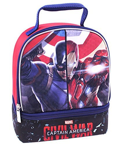 Captain America Civil War Insulated Lunchbox - black, one size by Captain america