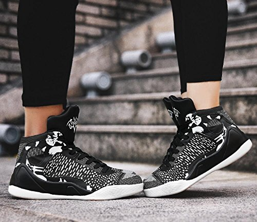 Women's Men's Performance Sports Basketball Shoes Breathable Lightweight Fashion Sneakers By JiYe Black White pre order cheap online free shipping fast delivery MRjwBK