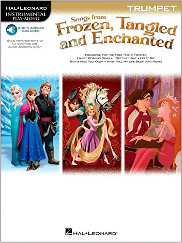 Hal Leonard Songs From Frozen, Tangled And Enchanted For Trumpet - Instrumental Play-Along Book/Online ()