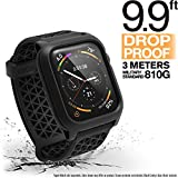 Catalyst Apple Watch Series 4 Impact Case 44mm ECG and EKG Compatible Superior Sport Band Rugged iWatch Protective Case, Drop Proof Shock Proof Apple Watch Case, Stealth Black