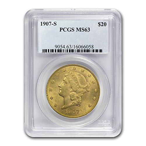 1907 S $20 Liberty Gold Double Eagle MS-63 PCGS G$20 MS-63 PCGS