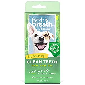Tropiclean Fresh Breath Plaque Remover Pet Clean Teeth Gel 4oz
