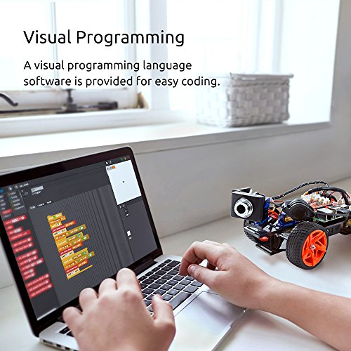 SunFounder Raspberry Pi Smart Video Car Kit V2.0 Block Based Graphical Visual Programming Language Remote Control by UI on Windows/Mac and Web Browser Electronic Toy with Detail Manual by SunFounder (Image #3)