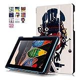 Lenovo Tab3 7 Essential Funda Carcasa,Ultra Slim PU Cuero Book Cover Funda Carcasa para el Tablet Lenovo Tab3 7 Essential Tab 3-710F Funda de Piel Caso con Función Soporte