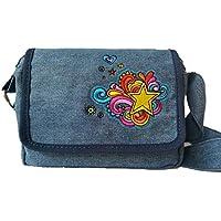 Embroidered shoulder cross body bag purse for girls