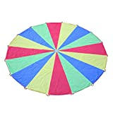 Voilamart 20ft Play Parachute Kids Children Colorful Outdoor Game Exercise Sport Toy With 16 Handles offers