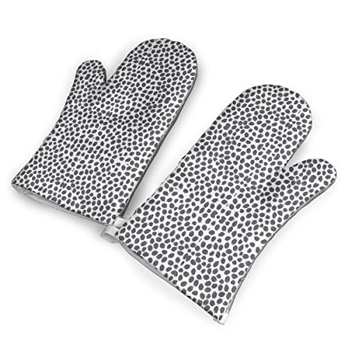 HDGASUG Oven Mitts 1 Pair, 02 Charcoal Invert Wallpaper (44) Mini Mitts Heat Resistant for Handling Hot Kitchen/Bakeware Items