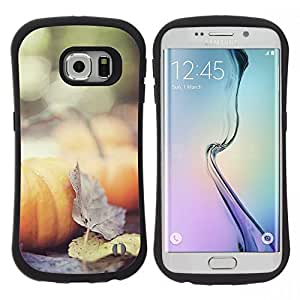 "Hypernova Slim Fit Dual Barniz Protector Caso Case Funda Para Samsung Galaxy S6 EDGE [Otoño Naturaleza Hojas de Halloween""]"