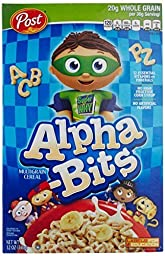 Post Alpha-Bits Cereal, 12 -Ounce Boxes (Pack of 4)
