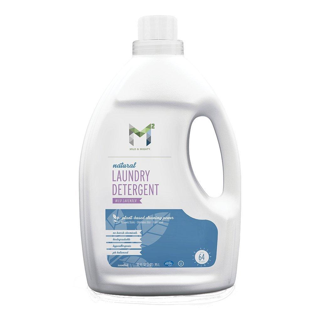 M2 Liquid Laundry detergent wild lavender all natural 32oz