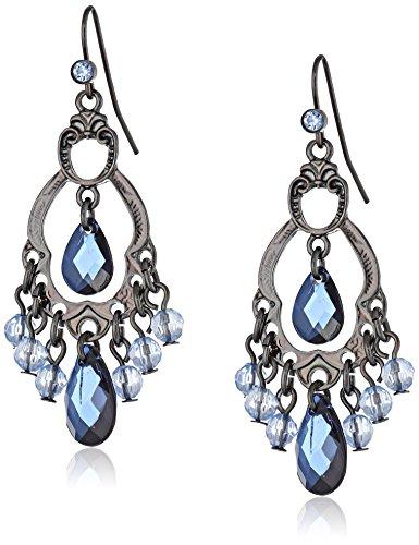 1928 Jewelry Classic Blue Chandelier Earrings