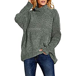 Women's Sweater Pullover Baggy Batwing Sleeve Fall Jumper