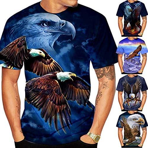 Xiakolaka Men'sEagle Flag Collage T-Shirt Bearing Eagle Tee Independence EagleT-Shirt
