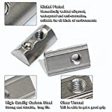 3030s T Spring Nut, Half Round Roll-in Nut for