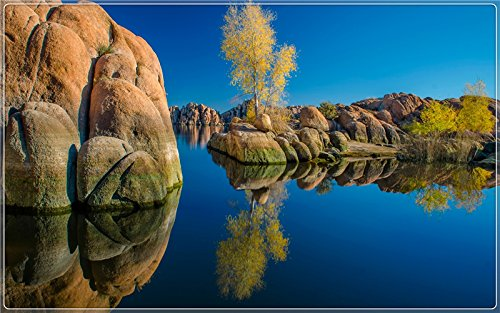 watson-lake-arizona-usa-stones-trees-water-reflection-postcard-post-card