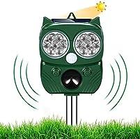 Cat Repellent Ultrasonic, Animal repeller,Waterproof Cat Repellent Solar , Flashing Light fox deterrent Repellent,Bird...