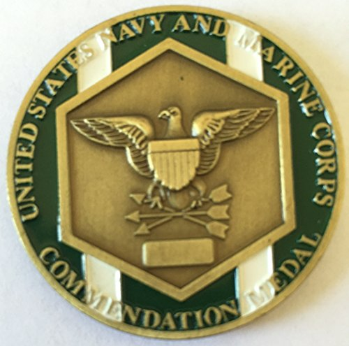 Navy and Marine Corps Commendation Medal Challenge Coin