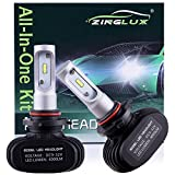 240sx headlight switch - ZX1 Seoul 9005 HB3 H10 9145 8000LM High Beam Headlight Conversion Kit,Fog Driving Light,for Replacing Halogen Headlamp All-in-One Conversion Kits,CSP Tech,6500K Xenon White,Fanless design, 1 Pair