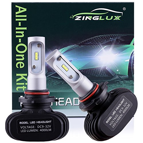 ZX1 Seoul 9005 HB3 H10 9145 8000LM High Beam Headlight Conversion Kit,Fog Driving Light,for Replacing Halogen Headlamp All-in-One Conversion Kits,CSP Tech,6500K Xenon White,Fanless design, 1 Pair 2001 Gmc Sierra Headlamps