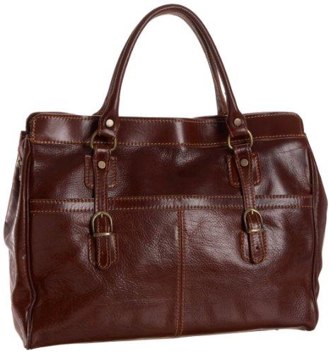 Floto Casiana Mini Handbag, Vecchio Brown, One Size by Floto