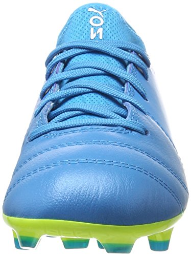 Puma Unisex-Kinder One 17.3 FG Jr Fußballschuhe Blau (Atomic Blue- White-Safety Yellow)