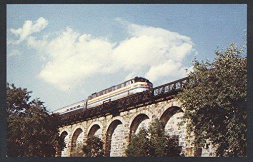 Amtrak Train Liberty Express Canton Viaduct Bridge Passenger Railroad Postcard ()