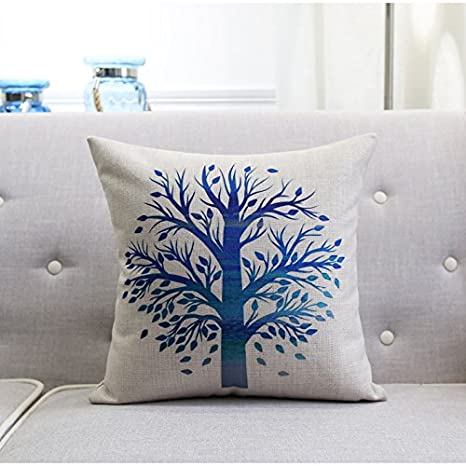 POPRY Sofá Estilo nórdico Almohada Cotton Tree Deer Simple ...