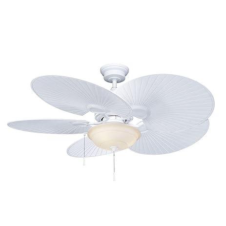 Hampton Bay Havana 48 in. Indoor/Outdoor Matte White Ceiling Fan ...