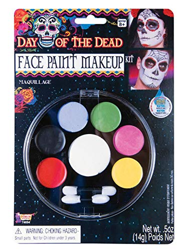 Forum Novelties - Day of The Dead Face Paint Makeup Kit, Net Wt. 14 g/.5 Oz -