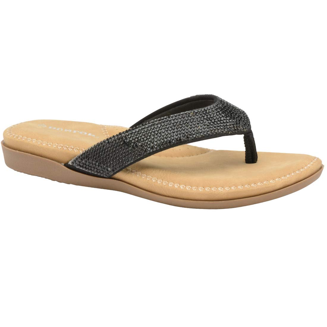 2a8b384c28bd Dunlop Flip Flops Toe Post Slip On Sandals Flat Cushioned  Amazon.co.uk   Shoes   Bags
