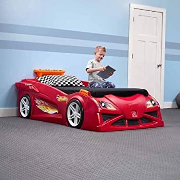 Hot Wheels Toddler To Twin Race Car Bed  Red. Amazon com  Hot Wheels Toddler To Twin Race Car Bed  Red  Kitchen