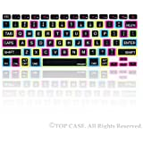 """TopCase Candy Black Silicone Keyboard Cover Skin for Macbook 13"""" Unibody / Macbook Pro 13"""" 15"""" 17"""" with or without Retina Display / New Macbook Air 13"""" / Wireless Keyboard + Topcase Mouse Pad"""
