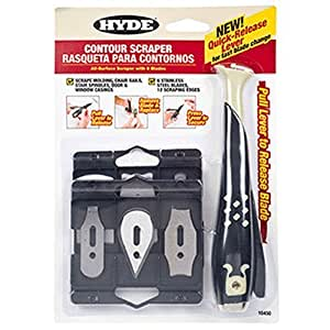 Hyde Tools 10450 Contour Scraper with 6 Changeable Blades