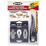 Hyde Tools 10450 - Rasqueta de contorno con 6 cuchillas intercambiables