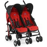 Chicco - 04079311110000 - Echo Double - Poussette - Garnet (Rouge et Noir)