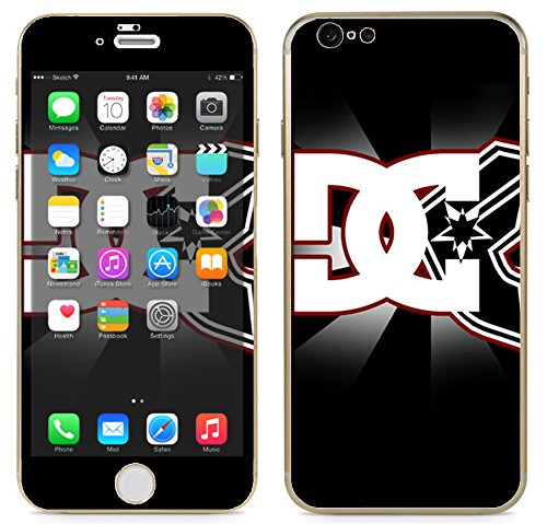 """Apple iPhone 6 (4.7"""") - Skin Kit plus Clear/White Bumper Case Protector and matching wallpaper - DC Famous Stars Straps Logo Cool"""